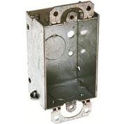 "Hubbell 400 Switch Box 3""X2"", 1-1/2"" Deep, Gangable, 1/2"" End Knockouts - Pkg Qty 20"
