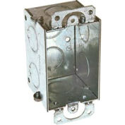 "Hubbell 420 Switch Box 3""X2"", 2"" Deep, Gangable, 1/2"" End Knockouts, W/Plaster Ears - Pkg Qty 50"
