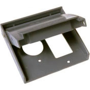 """Hubbell 5040-0 Rayntite Two Gang Weatherproof Cover - (1) 1.406"""" Diameter & (1) Gfci - Pkg Qty 6"""