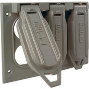 Hubbell 5097-0 Three Gang Weatherproof Box Mount Cover (3) Duplex