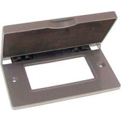 Hubbell 5102-0 Single Gang Horizontal Device Mount Cover Gfci Gray - Pkg Qty 24