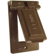 Hubbell 5103-2 Weatherproof Single Gang Vertical Device Mount Cover Gfci Bronze - Pkg Qty 24