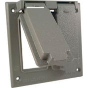 Hubbell 5133-0 Two Gang (1) Duplex (1) Gfci Cover, Box Mount - Pkg Qty 10