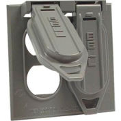 Hubbell 5148-5 Two Gang Weatherproof Device Mount Cover, (2) Duplex, Carded - Pkg Qty 4