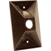 Hubbell 5186-2 Weatherproof Cover Rectangular Cluster, One Hole, Bronze - Pkg Qty 20