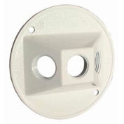 """Hubbell 5197-1 Weatherproof Cover 4"""" Round Cluster, Three Hole, White - Pkg Qty 20"""
