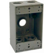 "Hubbell 5322-0 Single Gang Weatherproof Box 5-1/2"" Outlets Gray - Pkg Qty 20"
