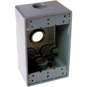 """Hubbell 5324-0 Single Gang Weatherproof Box 3-3/4"""" Outlets, Gray - Pkg Qty 20"""