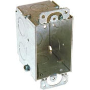 "Hubbell 560 Switch Box 3""X2"", 2-3/4"" Deep, Gangable, 1/2"" End Knockouts, W/Plaster Ears - Pkg Qty 50"