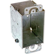"Hubbell 565 Switch Box 3""X2"", 2-3/4"" Deep, Gangable, 3/4"" End Knockouts, W/Plaster Ears - Pkg Qty 50"