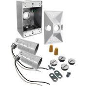 Hubbell 5818-6 Rectangular Box & Light Kit White - Pkg Qty 4