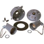 Hubbell 5829-5 Round Box & Light Kit & Photocell Gray - Pkg Qty 4