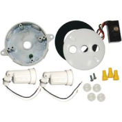 Hubbell 5829-6 Round Box & Light Kit & Photocell White - Pkg Qty 4