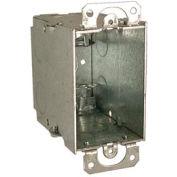 "Hubbell 600 Switch Box 3""X2"", 3-1/2"" Deep, Gangable, Mc/Bx Clamps, W/Plaster Ears - Pkg Qty 25"