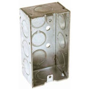 "Hubbell 650 Handy Box 4""X2"", 1-1/2"" Deep, 1/2"" End Knockouts, Welded - Pkg Qty 50"