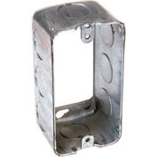 "Hubbell 665 Handy Box 4""X2"" Extension, 1-7/8"" Deep, 1/2"" End Knockouts - Pkg Qty 50"