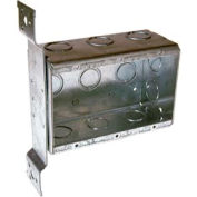 "Hubbell 686 3 Device Box, 2-1/2""D, 1/2""&3/4"" Side Knockouts, Stud Bracket, Welded - Pkg Qty 10"