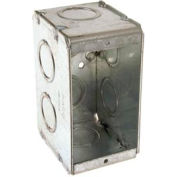 "Hubbell 690 Masonry Box, 1 Device, Non-Gangable, 2-1/2"" Deep, 1/2"" & 3/4"" End Knockouts - Pkg Qty 25"