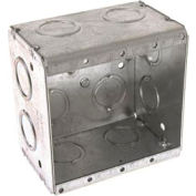 "Hubbell 691 Masonry Box, 2 Device, Non-Gangable, 2-1/2"" Deep, 1/2"" & 3/4"" End Knockouts - Pkg Qty 25"
