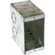 "Hubbell 695 Masonry Box, 1 Device, Non-Gangable, 3-1/2"" Deep, 1/2"" & 3/4"" End Knockouts - Pkg Qty 25"