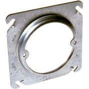 "Hubbell 767 4"" Square Box Fixture Cover, Raised 1/2"", Ears 2-3/4"" O.C. - Pkg Qty 25"