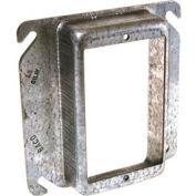 "Hubbell 775 4"" Square Mud-Ring, For 1 Device, Raised 1-1/4"" - Pkg Qty 25"