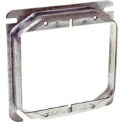 "Hubbell 781 4"" Square Mud-Ring, For 2 Devices, Raised 1-1/4"" - Pkg Qty 25"