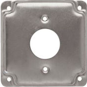 "Hubbell 801c 4"" Square Exposed Work Cover, 1 Receptacle 1.406"" Diameter - Pkg Qty 10"