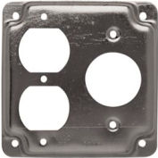 "Hubbell 806c 4"" Square Exposed Work Cover, One Duplex & One 1.406 Diam. Hole - Pkg Qty 10"