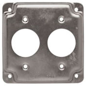 """Hubbell 807c 4"""" Square Exposed Work Cover, Two 1.406 Diam Holes - Pkg Qty 10"""