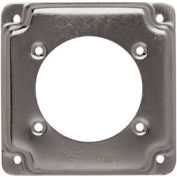 """Hubbell 816c Square Exposed Work Cover 4"""", One Receptacle 2.480 Diam. Hole - Pkg Qty 10"""