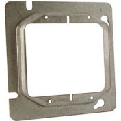 "Hubbell 818 4-11/16"" Square Mud-Ring, For 2 Devices, Raised 5/8"" - Pkg Qty 25"