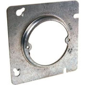 "Hubbell 829 4-11/16"" Square Box Fixture Cover, Raised 1/2"", 2-3/4"" O.C. - Pkg Qty 25"