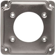 "Hubbell 830c 4"" Square Exposed Work Cover, One Receptacle 2.255 Diam. Hole - Pkg Qty 10"