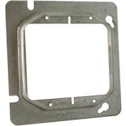 """Hubbell 840 4-11/16"""" Square Mud-Ring, For 2 Devices, Raised 3/4"""" - Pkg Qty 25"""