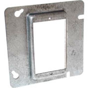 "Hubbell 843 4-11/16"" Square Mud-Ring, For 1 Device, Raised 5/8"" - Pkg Qty 25"