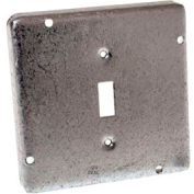 "Hubbell 870rac Square Exposed Work Cover 4-11/16"", 1 Toggle Switch - Pkg Qty 10"