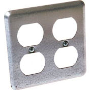 Hubbell 873 2 Device Switch Box Cover, 2 Duplex - Pkg Qty 25