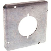 "Hubbell 878 4-11/16"" Square Exposed Work Cover, 30-50a Receptacle 2.141"" Diameter - Pkg Qty 10"