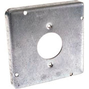 "Hubbell 887 4-11/16"" Square Exposed Work Cover, 20a Receptacle 1.594"" Diameter - Pkg Qty 10"