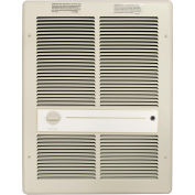 TPI Fan Forced Wall Heater HF3316TRP - 4000/3000/2000/1500W 240/208V Ivory