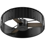 "Hunter Fan 30"" Vault Ceiling Fan with Handheld Remote 59255 - Matte Black and Gloss Black"