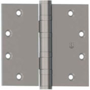 """Bb1199 Full Mortise, Five Knuckle, Ball Bearing, Heavy Weight Hinge 4.5"""" X 4.5"""" Us32d Nrp"""