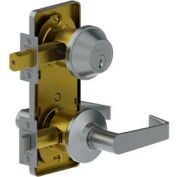 "3753 Grade 2 Interconnected Lock - Interconnected Double Locking Entry 2-3/4"" Us26d Wtn Scc Kd Tee"