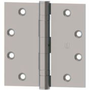 "Hager Full Mortise, Five Knuckle, Ball Bearing Hinge BB1279 4.5"" x 4.5"" US26D"