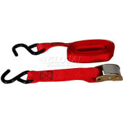 """Highland™ Light Duty Cambuckle with Hooks 1033300 10'L x 1""""W Red, Pack of 1"""