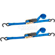 """Highland™ Ratchet Tie Down 1166600 15'L x 1""""W Blue, Pack of 2"""