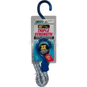 """Highland® 8534000 Tri Strength Marine Bungee Cord, 40""""L, Blue/White, Pack of 1"""