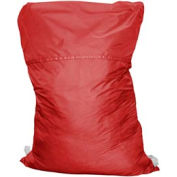 "18"" Ropeless Hamper Bag, Nylon, Red, Straight Bottom - Pkg Qty 12"