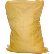 "18"" Ropeless Hamper Bag, Nylon, Yellow, Straight Bottom - Pkg Qty 12"